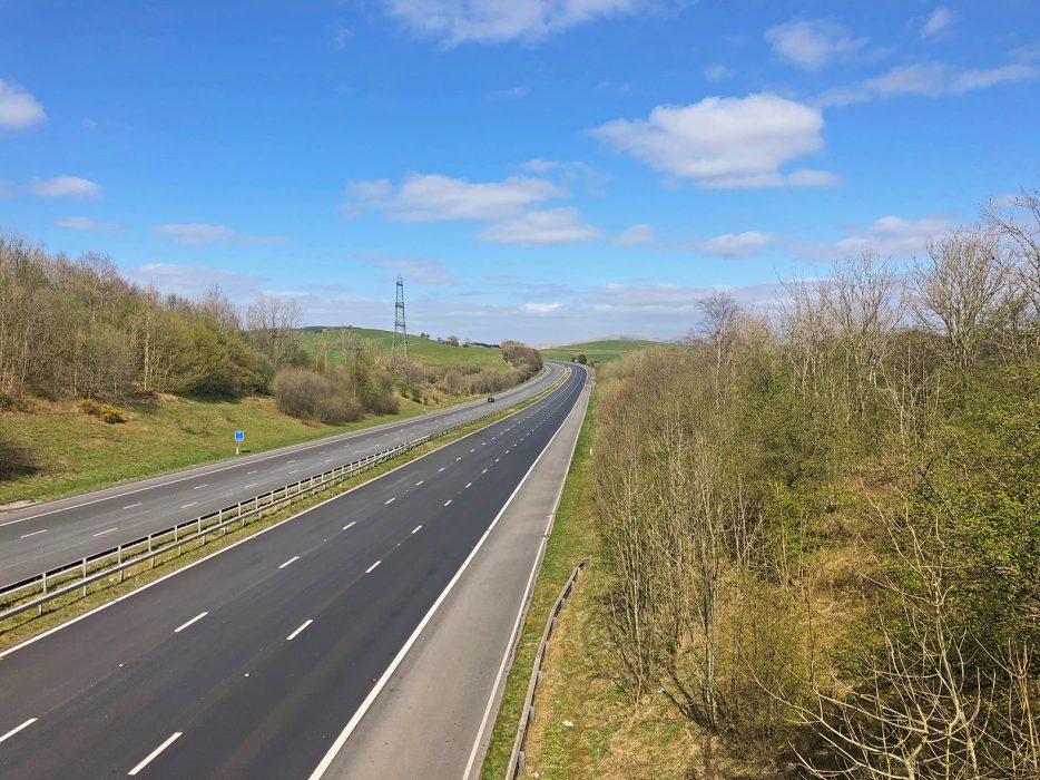 M6 Motorway during lockdown 2020