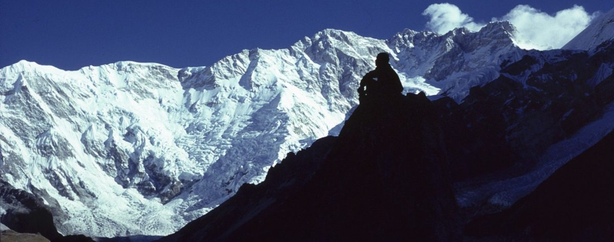 Early morning below the South-west Face of Kangchenjunga