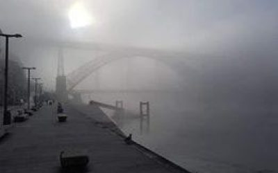Paul Tovell - Early morning fog in Porto on my walk of the Portuguese Camino - make the time to do it, it's something that will be in my heart forever.