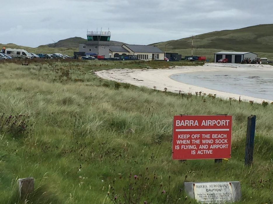 Barra Airport on the beach