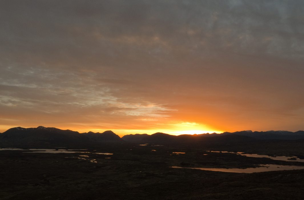 Sunset over Rannoch Moor