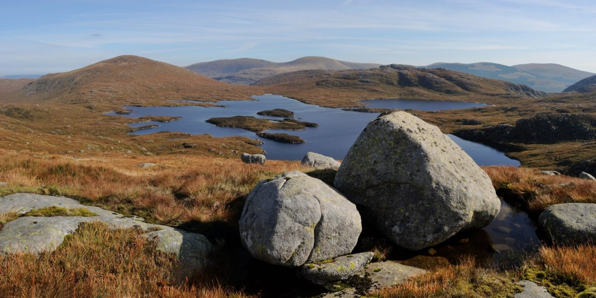 If a picture's too big for the camera, take two and stitch them together. Loch Enoch, Galloway