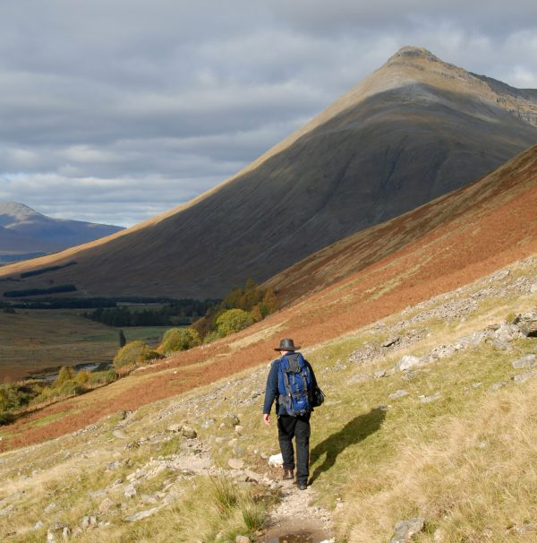 Walking the military road towards Beinn Dorain north of Tyndrum