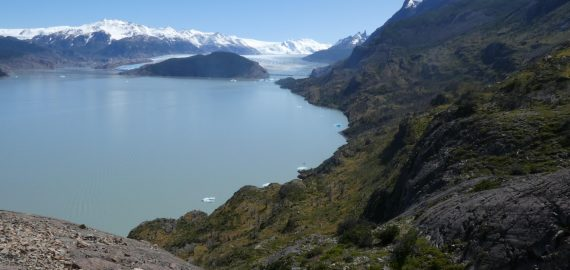 The snout of Grey Glacier at the start of the W trek