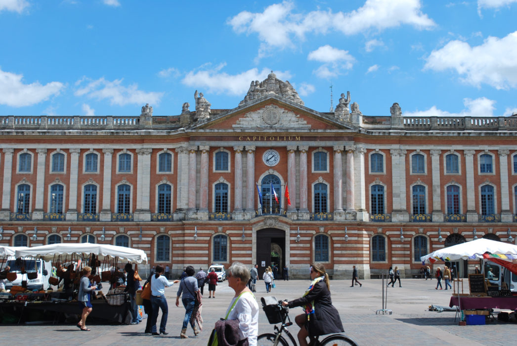 The Capitol In Toulouse Where The Canal Begins