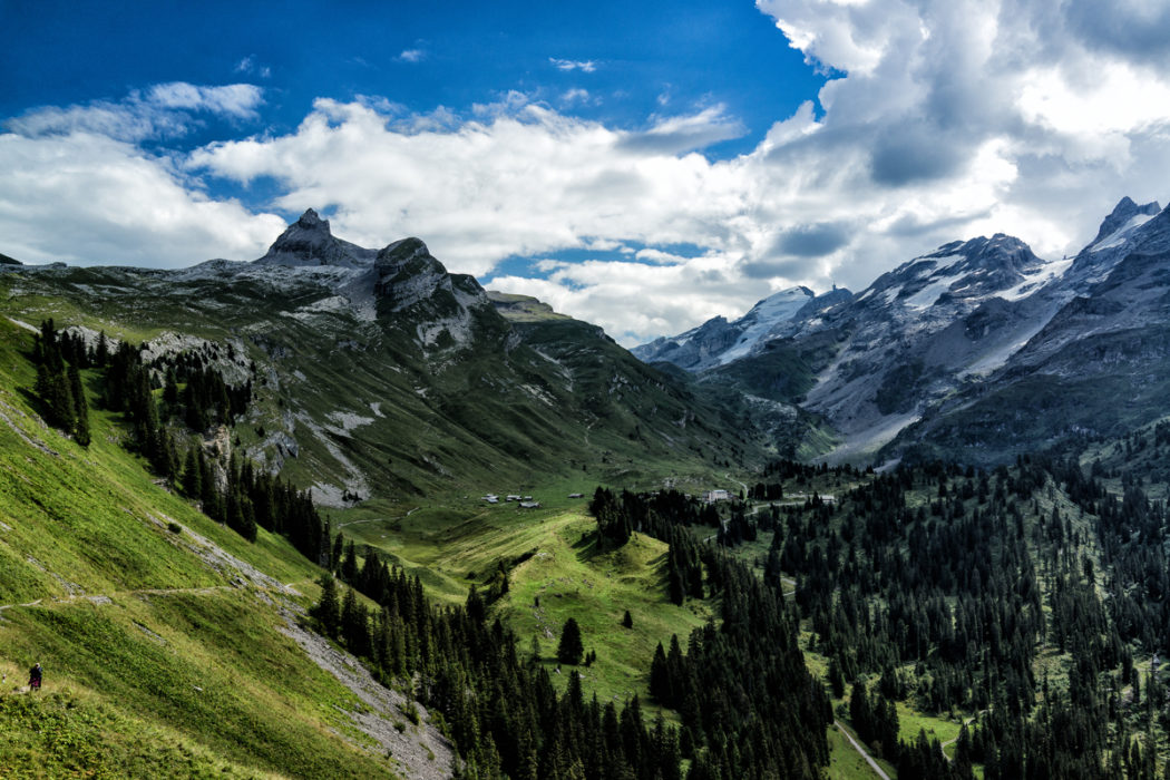 View Back To  Jochpass And  Titlis From  Tannensee
