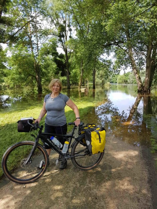 Flooded Cycle Track Near Chaumont