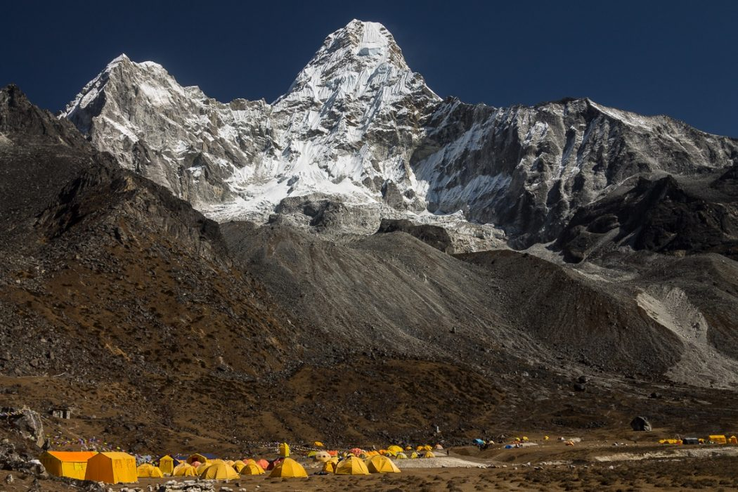 Ama  Dablam 6812M Seen From Its Base Camp