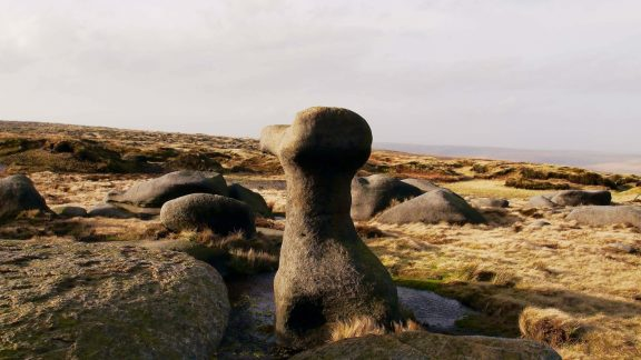 Artistic Gritstone On  Bleaklow