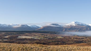 Grey Corries And Aonach Mor From Commando Memorial Glen Spean