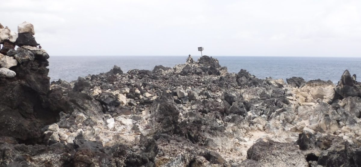 The Leterbox On North West Point Is Approached Over A Lava Field