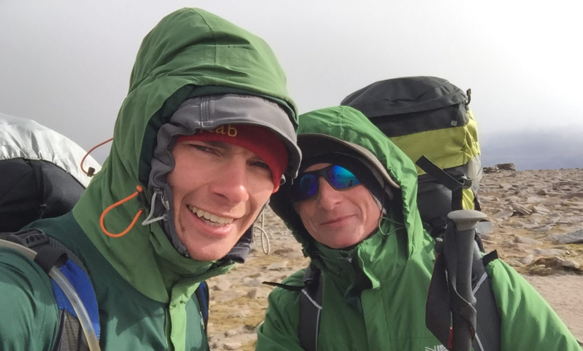 A Brief Moment Of Cleared Skies At The  Ben  Macduis Windy Summit Time For A Selfie Me Left  Andrew Right