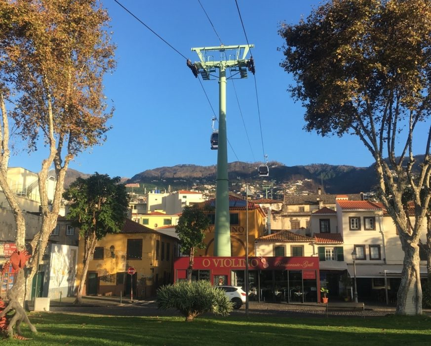 The Cablecar From The Seafront In  Funchal Carried Us 550M Up Into The Hills To Start Our Trek