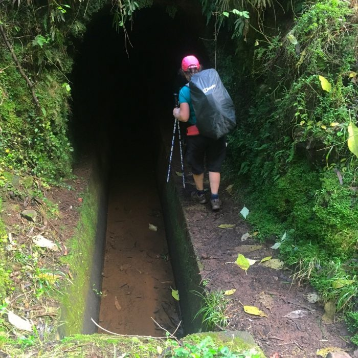 Following The  Levada Dos  Tornos Into Our First Tunnel