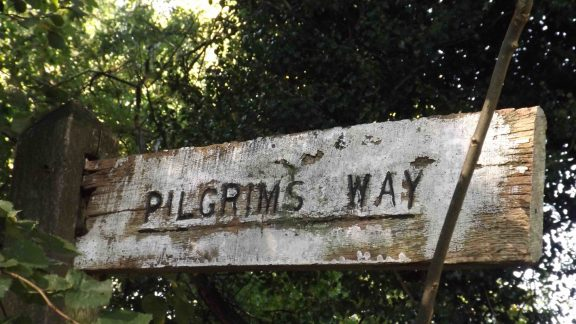Pilgrims  Way Sign At  Chaldon In  Surrey