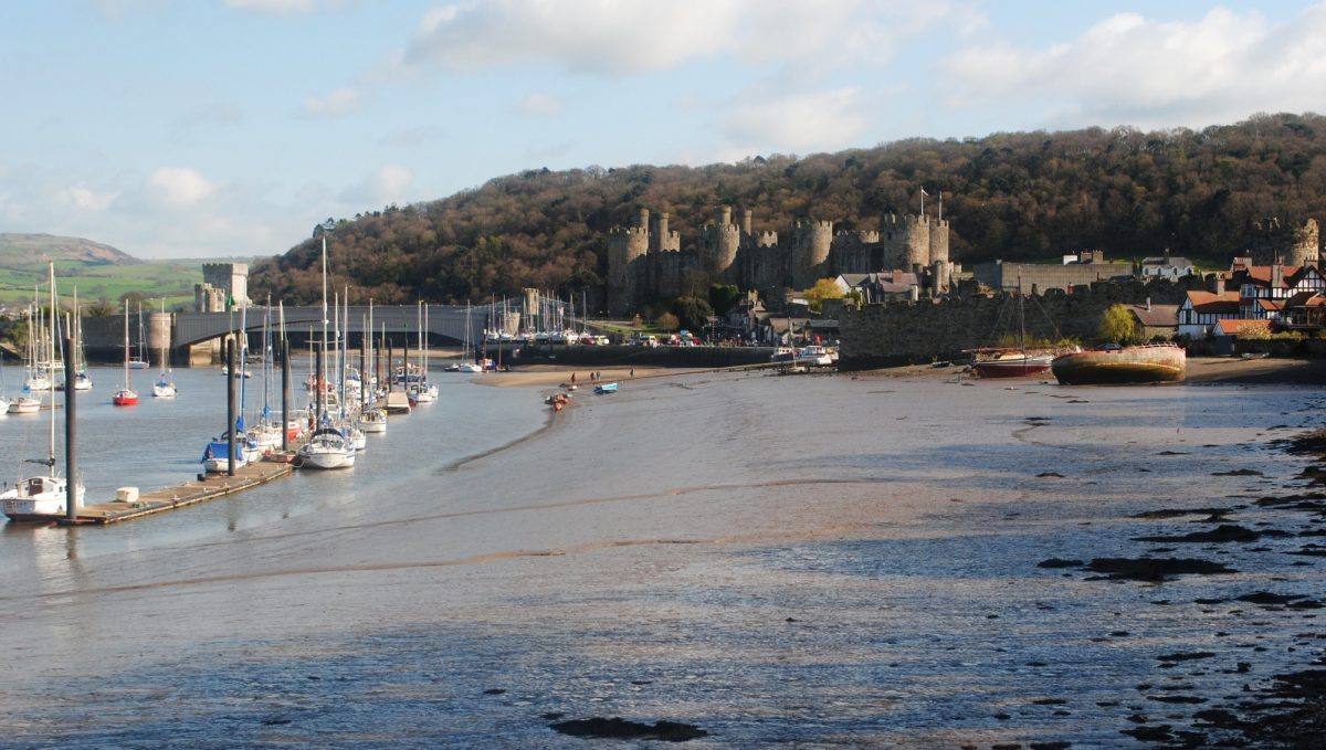 Conwy  Castle At The End Of The  Way Built By  Edward  I After  Llewelyn The  Lasts Defeat