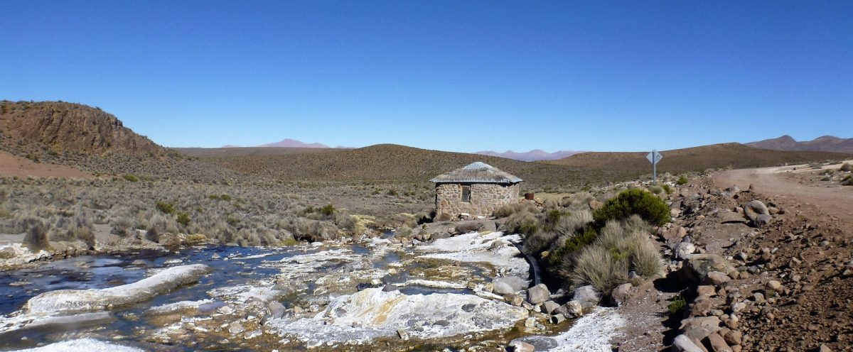 Hot Springs Tranquil Solitude In  South  America