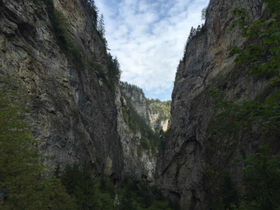 Trigrad Gorge Above  Devils Throat