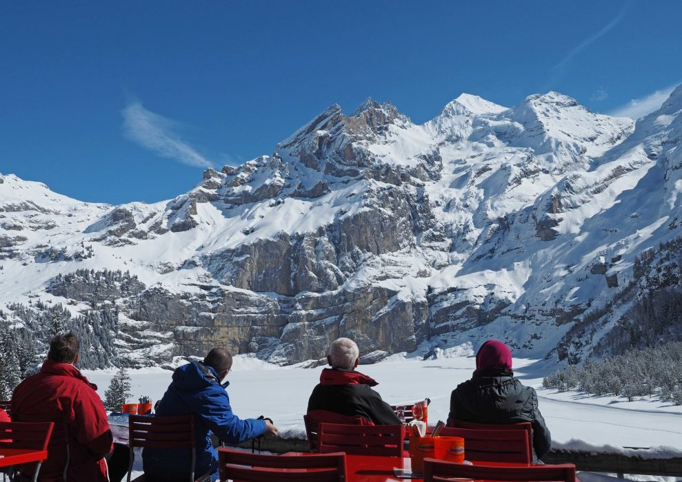 Stopping For Refreshments On A Walk Above  Kandersteg