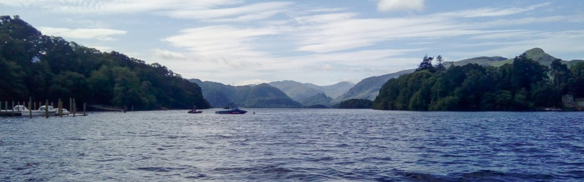 Crossing  Derwentwater On The  Keswick  Launch