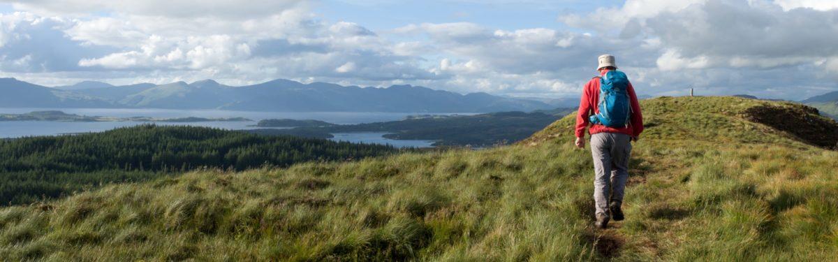 Beinn  Lora Summit With  Loch  Linnhe In  Ben  Nevis And  Glen  Coe Region