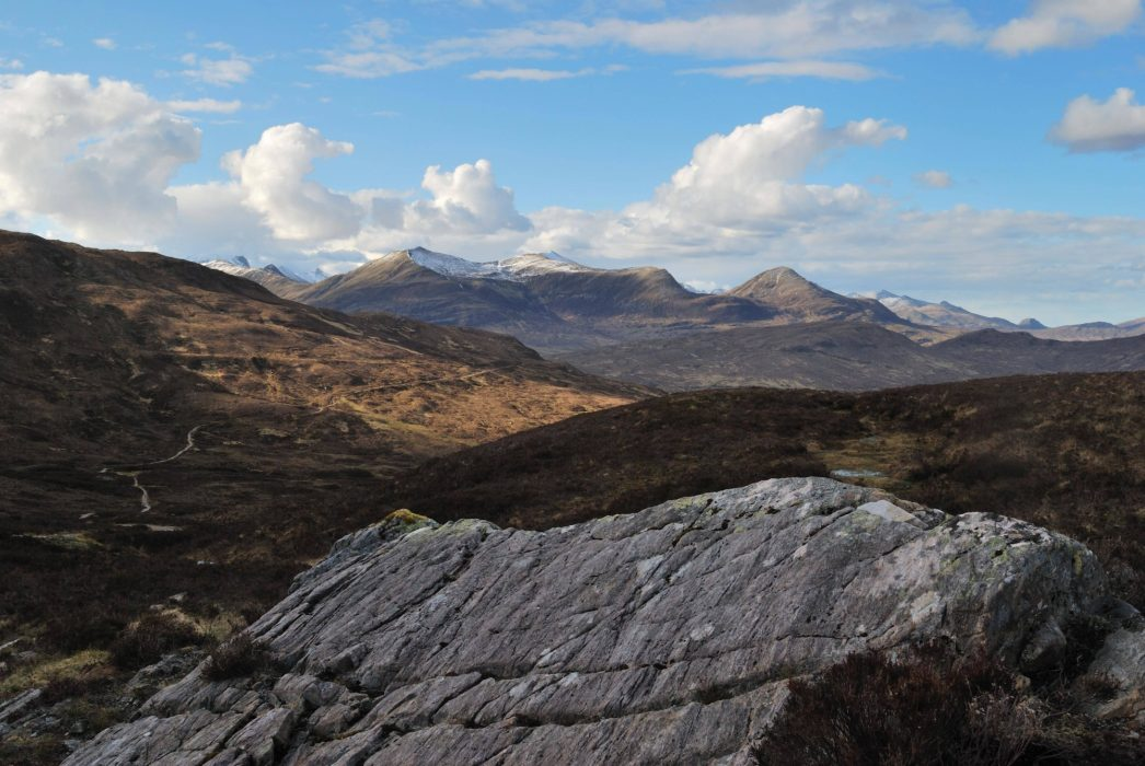 Devils  Staircase Path With The  Mamores Ridge