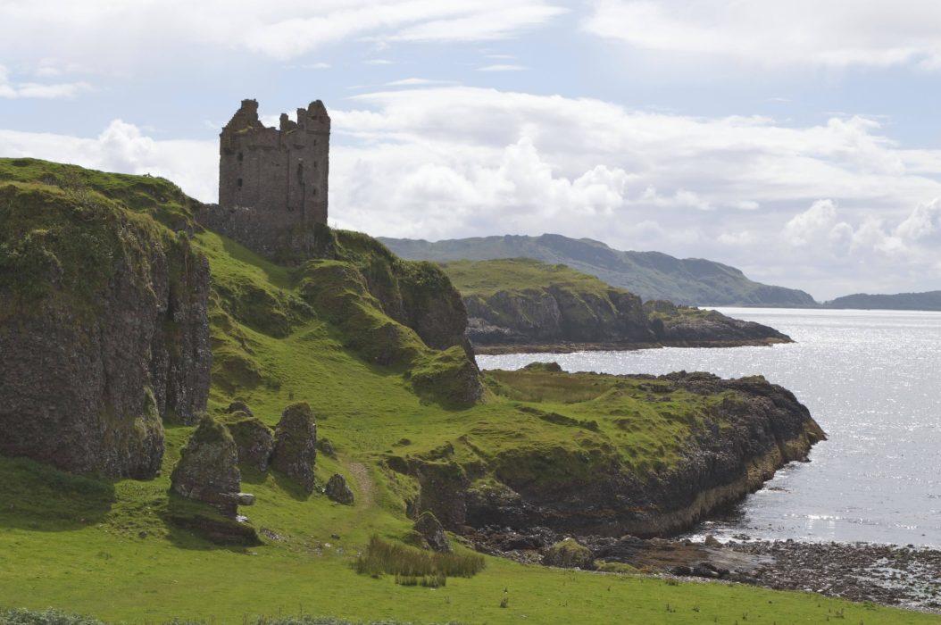 Kerrera  Gylen  Castle And Sea Stacks