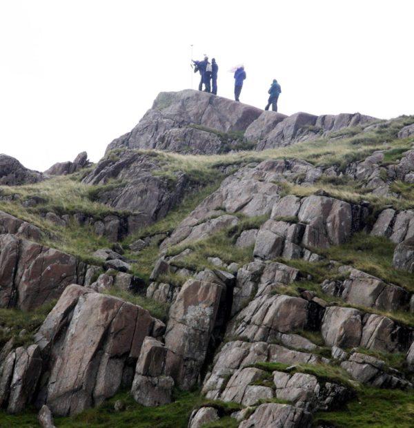 Surveying Above  Bwlch Y  Moch