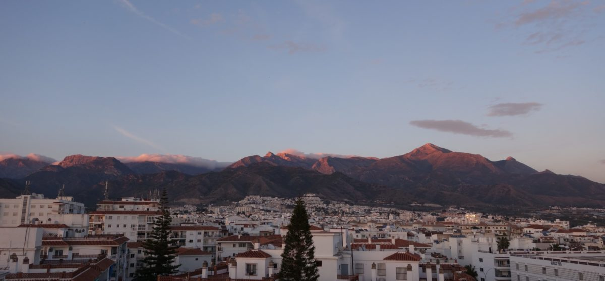 Sunset Over The Mountains Above  Nerja