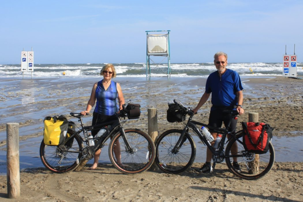 The End Of The  River  Rhone  Cycle  Route In  France