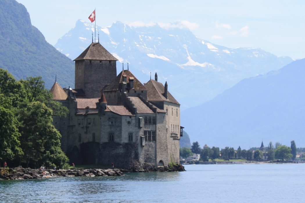 Chateau De  Chillon  Lord  Byron