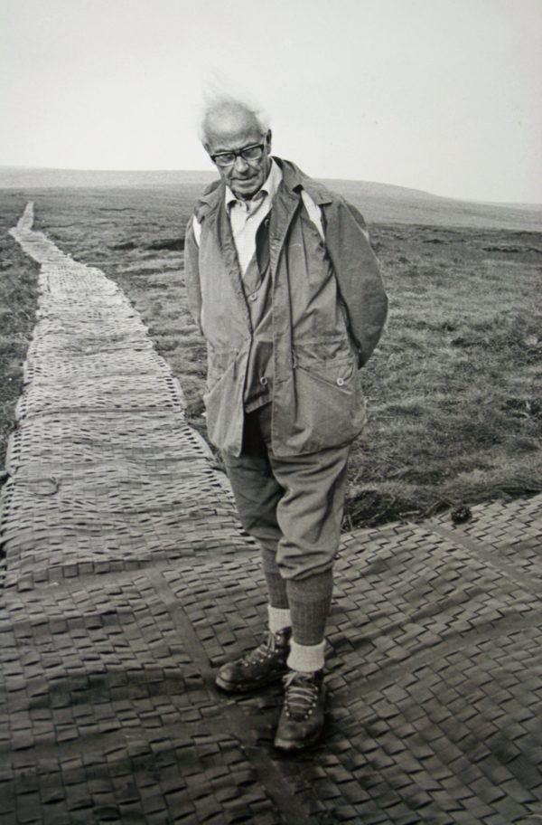 Tom  Stephenson  On  The  Pennine  Way  At  Snake  Pass