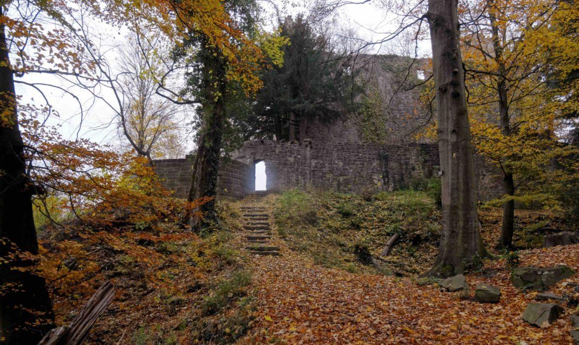 Ruin Of A Castle On  Germanys  Westweg