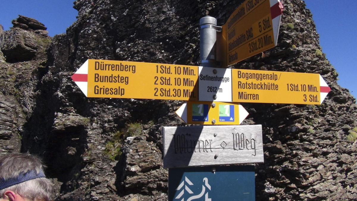 Signposts On  Via  Alpina 1