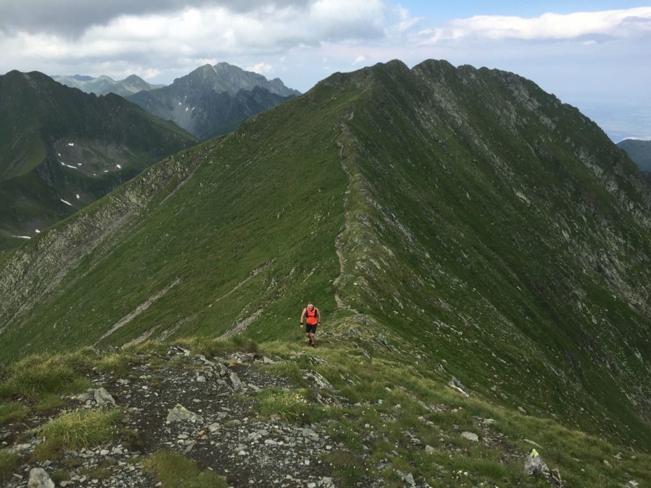 Nearing The Summit In  Romanias  Carpathian Mountains