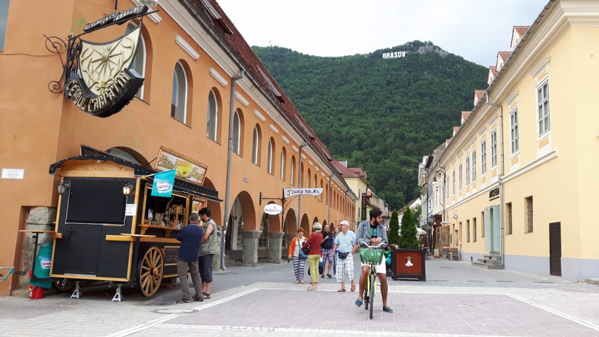 The Beautiful Town Of  Brasov In The  Carpathians