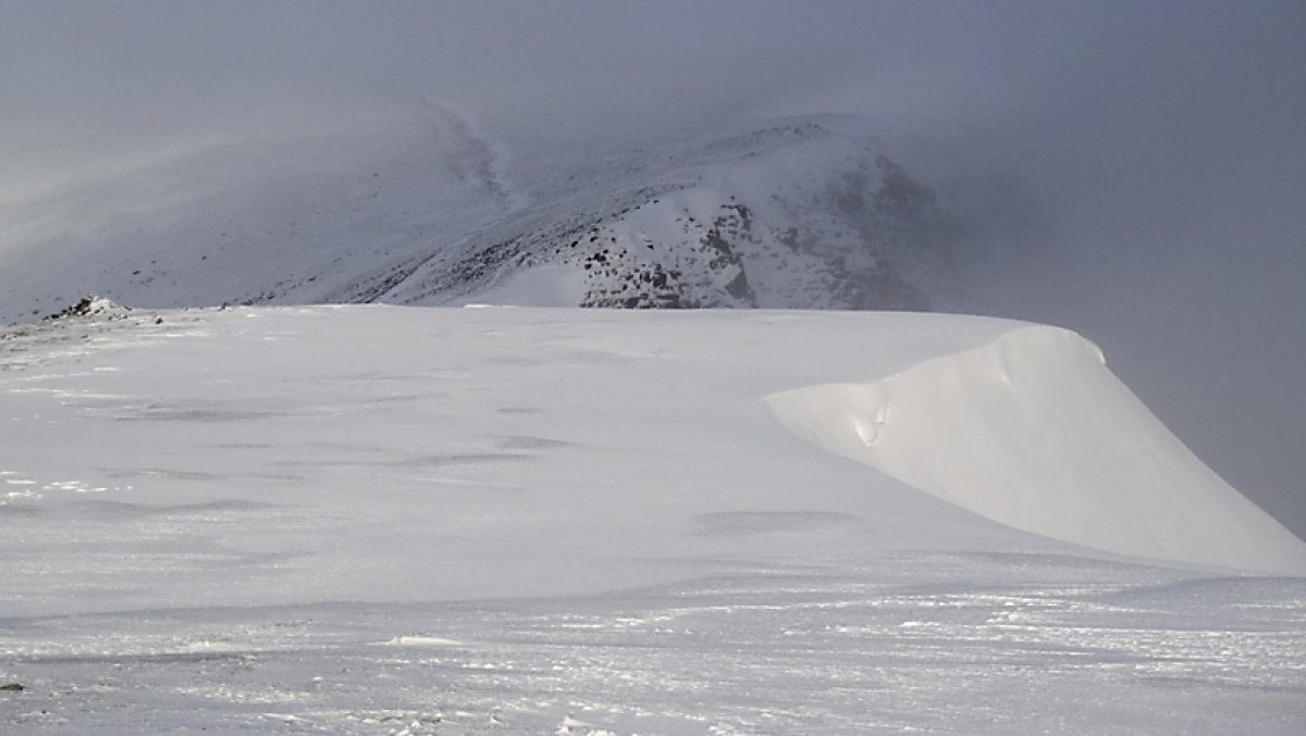 Helvellyn and Nethermost Pike winter Lake District