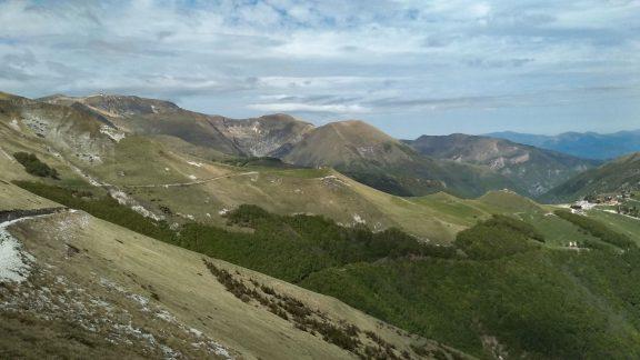 Monte amandola in the Sibillini national park