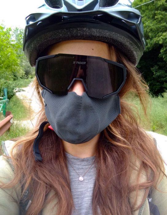 Sue on bike
