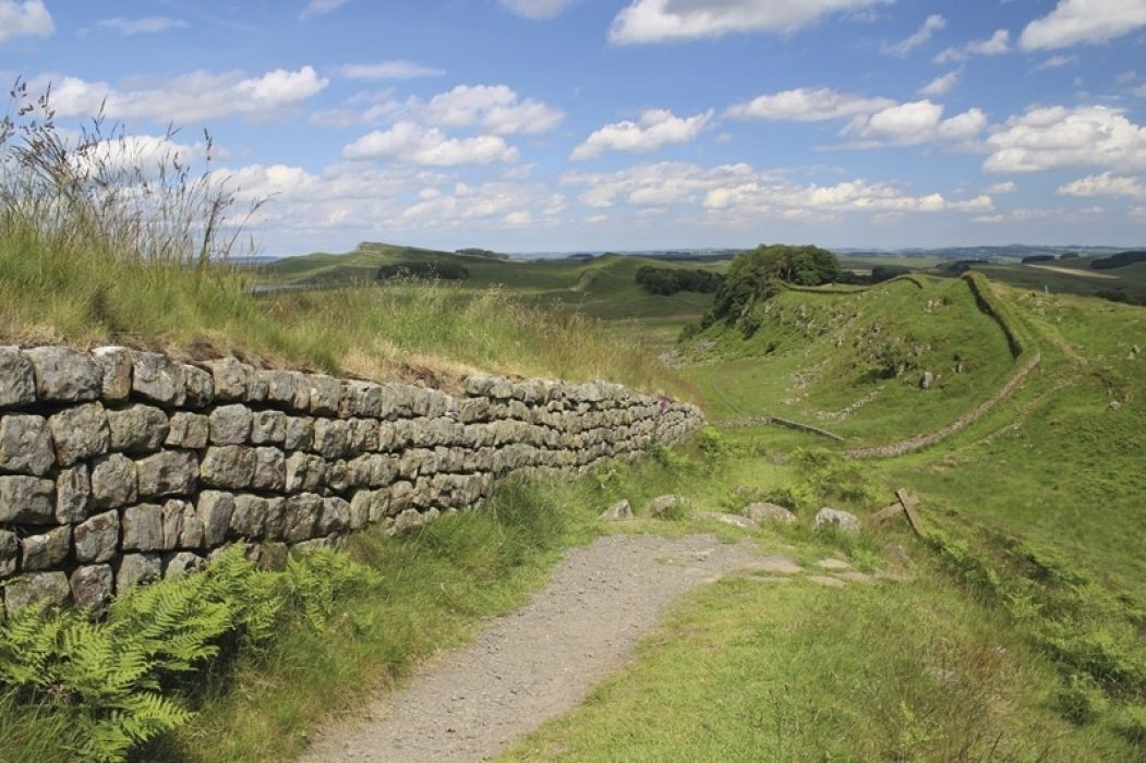 Housesteads Crags along the Hadrian's Wall Path