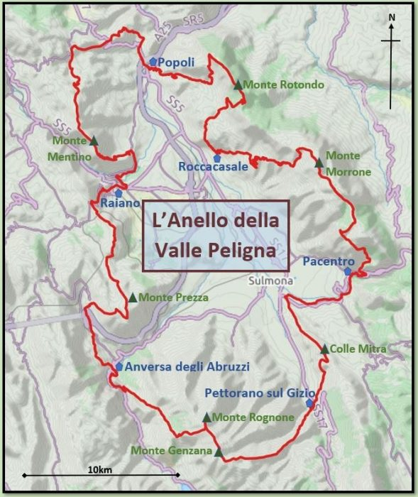 Sulmona Valley Loop route