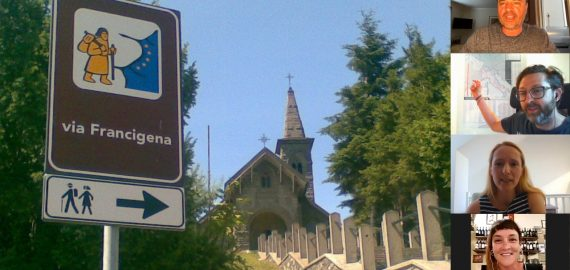 Walking the via Francigena