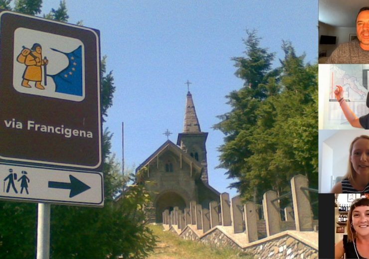 Live video: The Via Francigena with Sandy Brown, Luca Bruschi, Julia Lewis and Beatrice Moricci