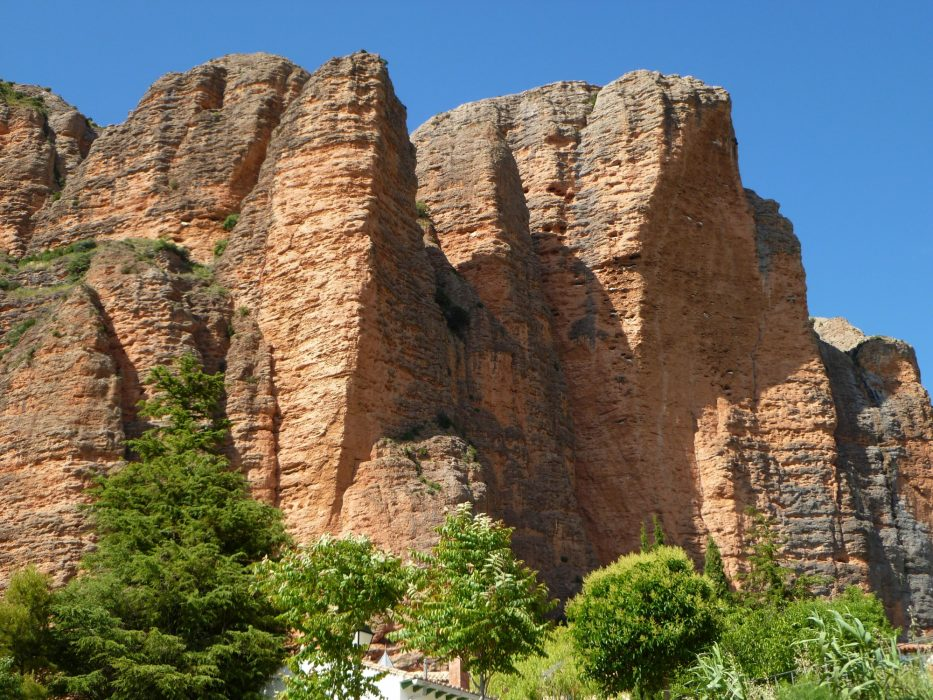 The imposing walls of La Visera on Mallos de Riglos the authors local crag for five years