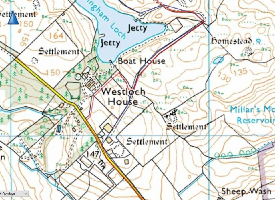 Westloch House path