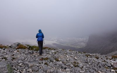 Regrettably we didnt get much of a view on the Foinaven ridge