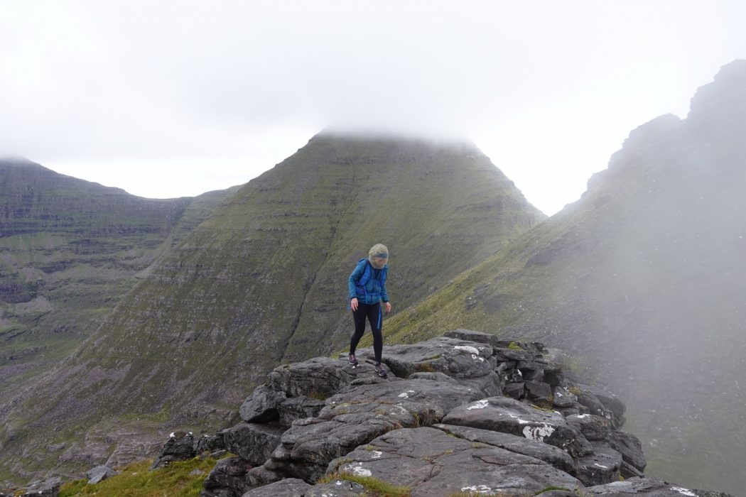 The famous Horns on the traverse of Beinn Alligin provide quite easy scrambling note midgenet