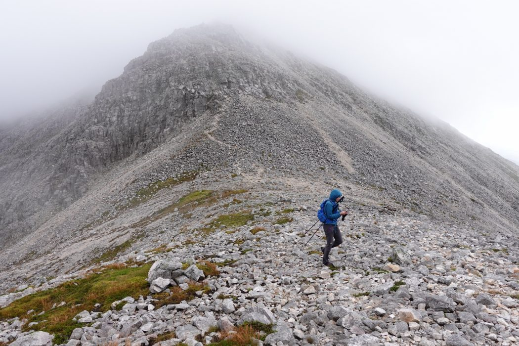 The rugged quartzite of Foinaven gave really enjoyable ridge walking with a few scrambly sections