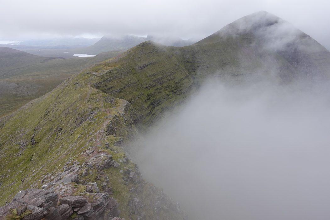 The wonderful walkers' ridgeline making its way to Sgurr Mor on Beinn Alligin provides a straightforward route