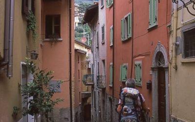 Colourful Italian streets around Lake Como